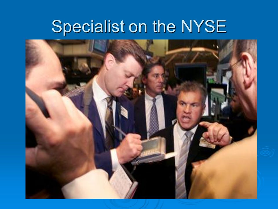 Specialist on the NYSE