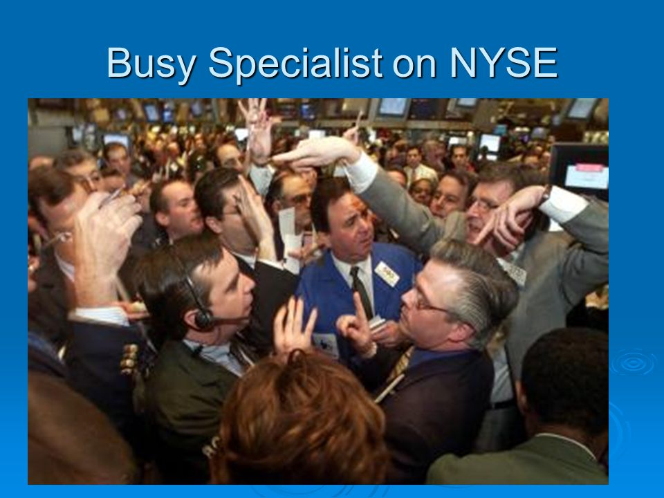 Busy Specialist on NYSE