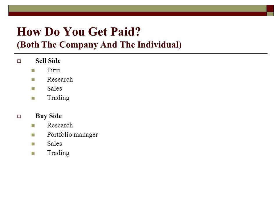 How Do You Get Paid.