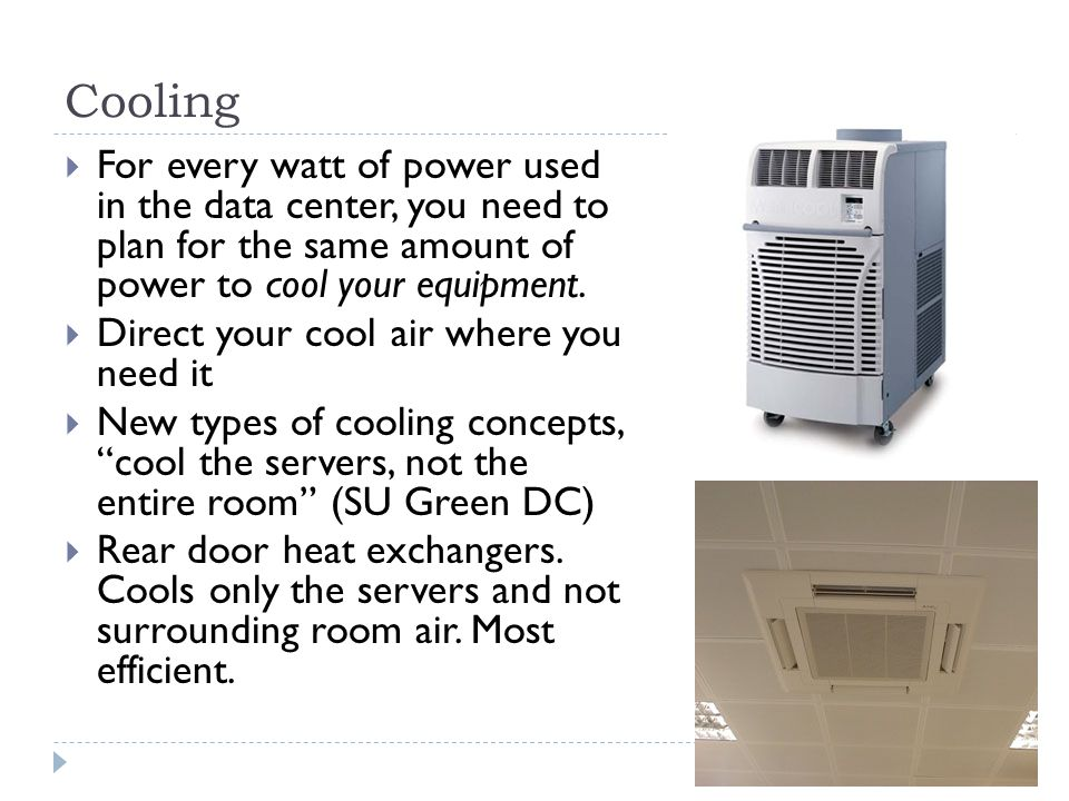 Large Data Center Air Conditioner and Rear Door Heat Exchanger