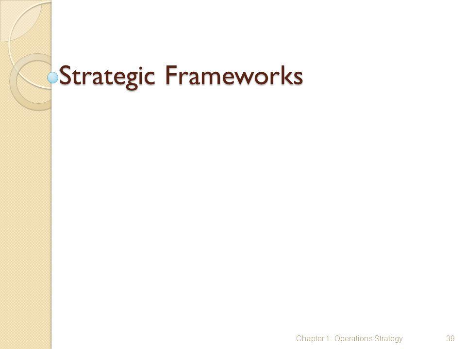 Strategic Frameworks Chapter 1: Operations Strategy39