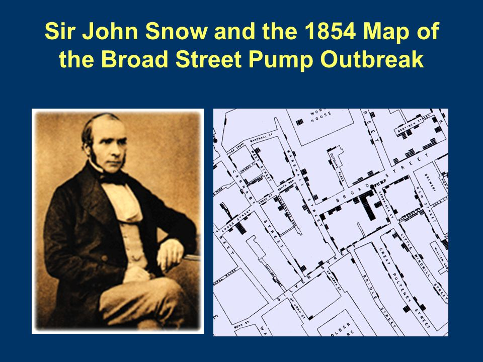 Sir John Snow and the 1854 Map of the Broad Street Pump Outbreak