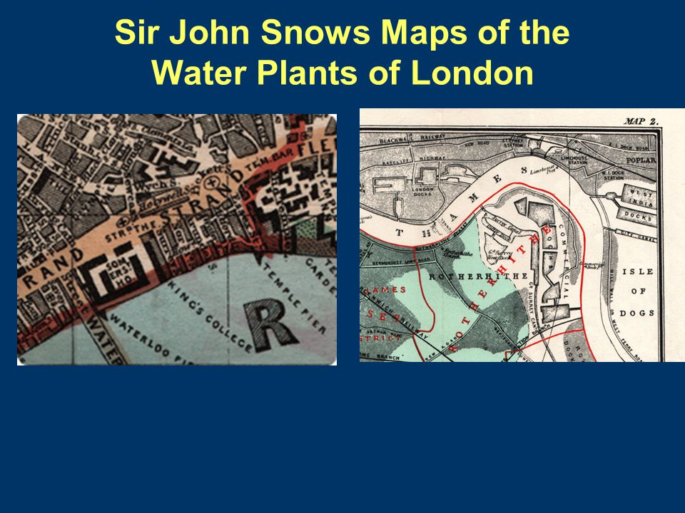 Sir John Snows Maps of the Water Plants of London