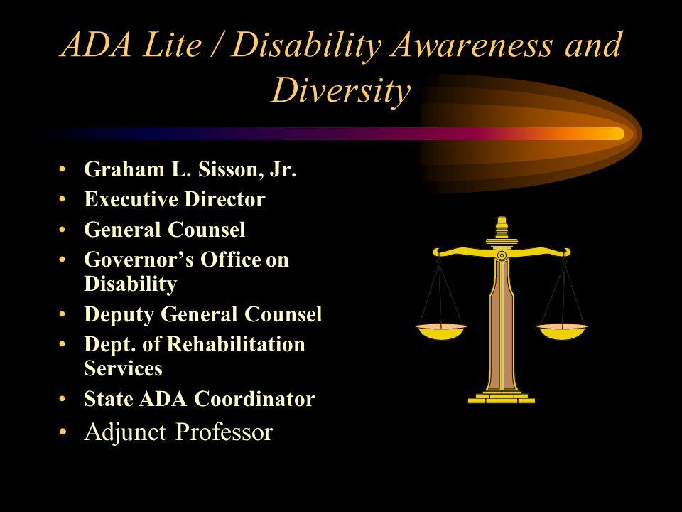 ADA Lite / Disability Awareness and Diversity Graham L.