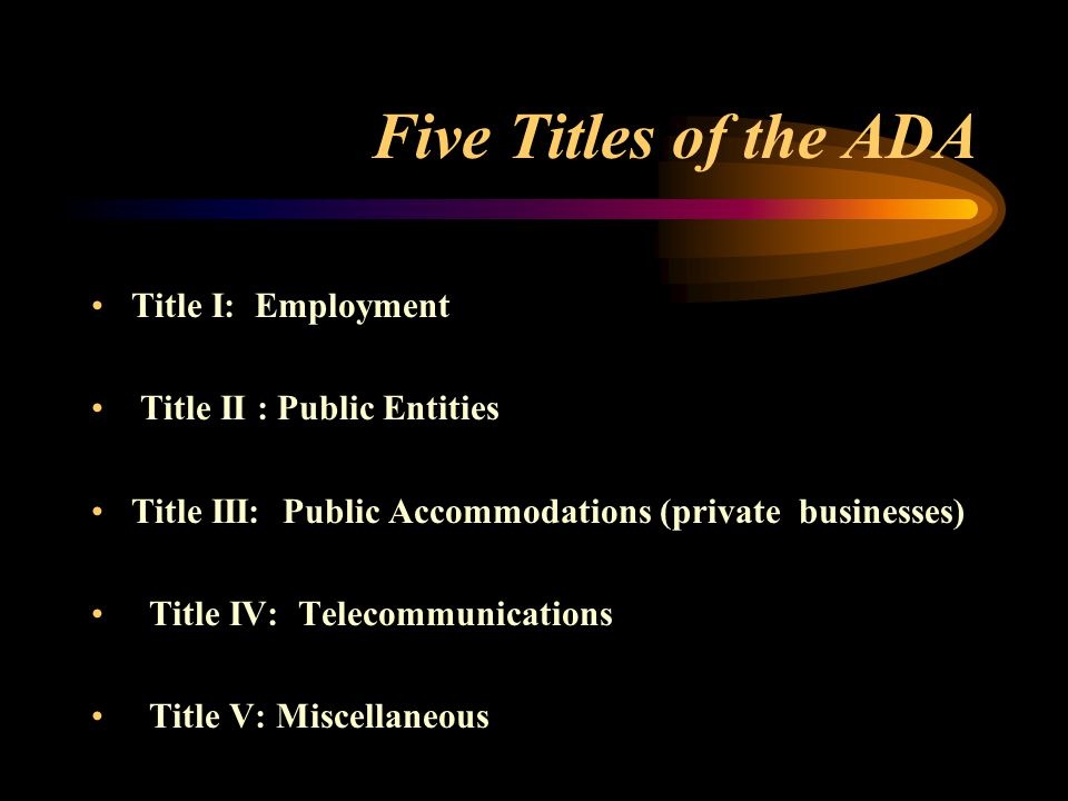 Title III New Regs.
