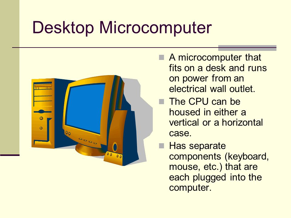 Laptop Computer A portable, compact computer that can run on an electrical wall outlet or a battery unit.