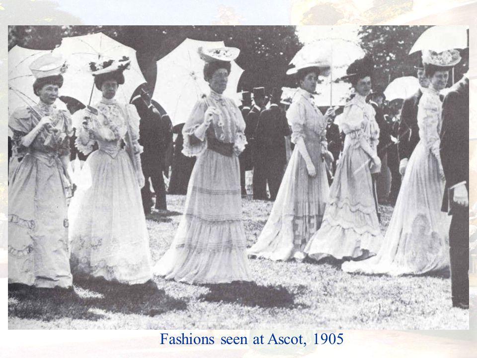 Fashions seen at Ascot, 1905