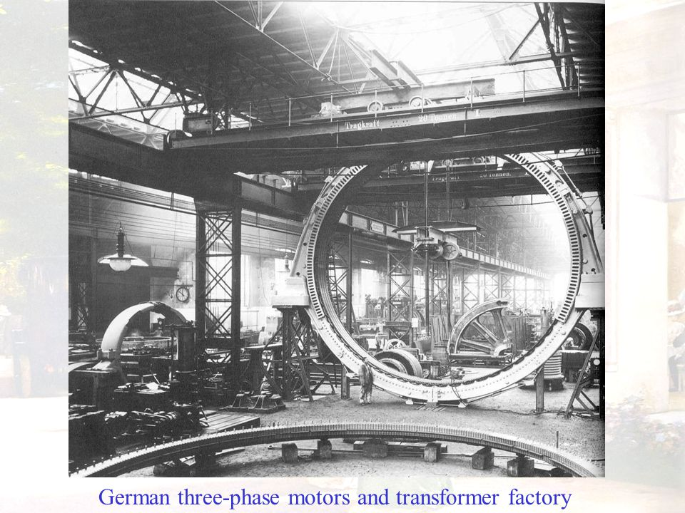 German three-phase motors and transformer factory