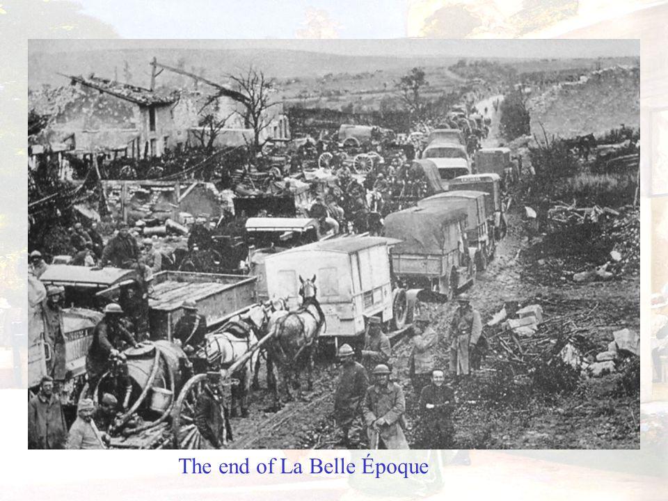 The end of La Belle Époque