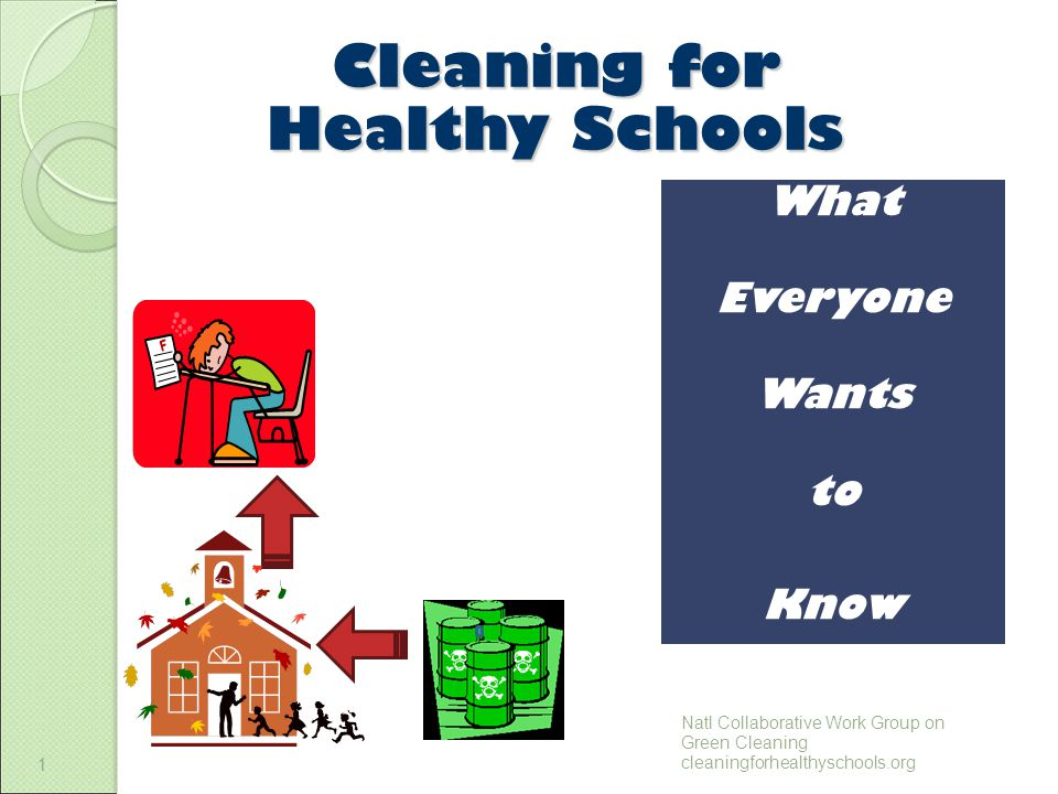 1 Cleaning for Healthy Schools 1 What Everyone Wants to Know Natl Collaborative Work Group on Green Cleaning cleaningforhealthyschools.org
