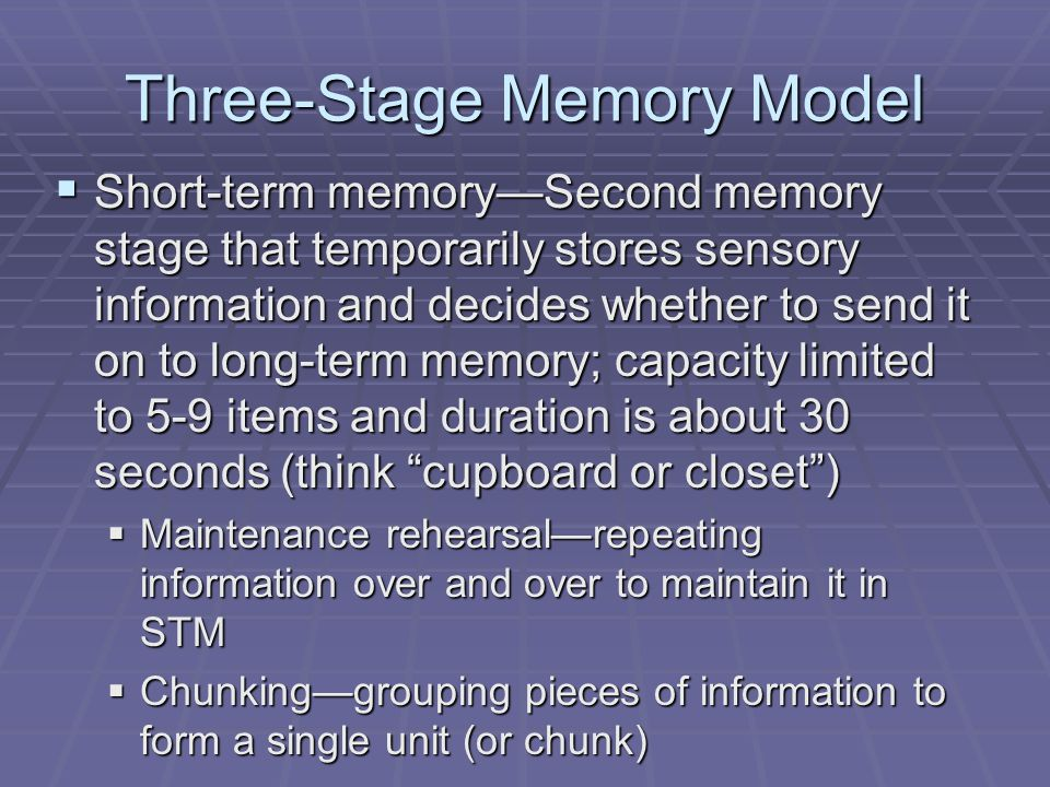 External Causes for Memory Problems  Since memory is a Constructive Process problems may be created within the processes of encoding and retrieval  Constructive Process—Organizing and shaping of information during encoding and retrieval that may cause memory errors and distortions