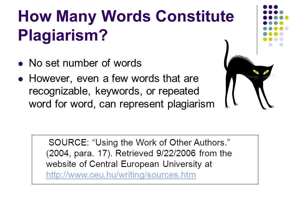 How Many Words Constitute Plagiarism.