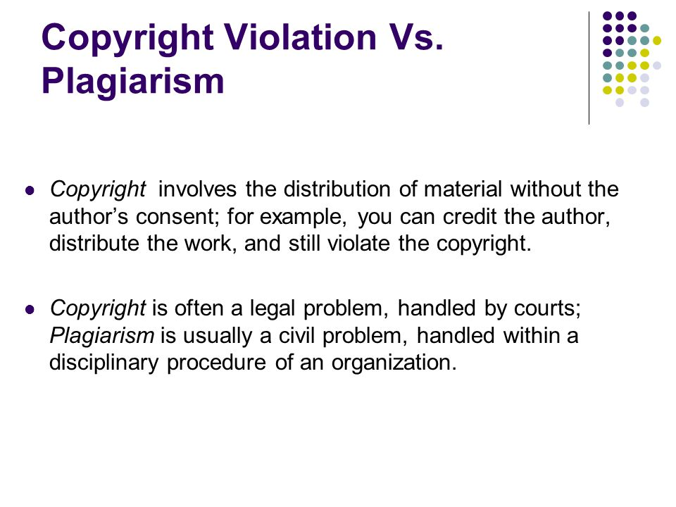 Copyright Violation Vs.