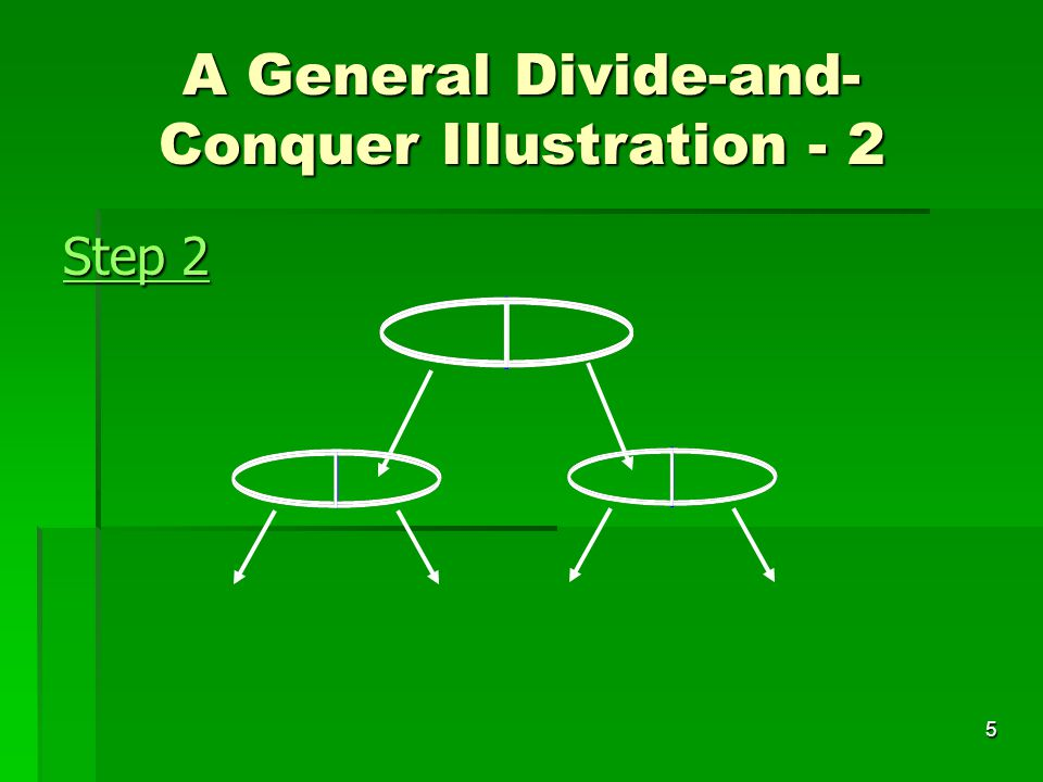 6 Step 3 A General Divide-and- Conquer Illustration - 3