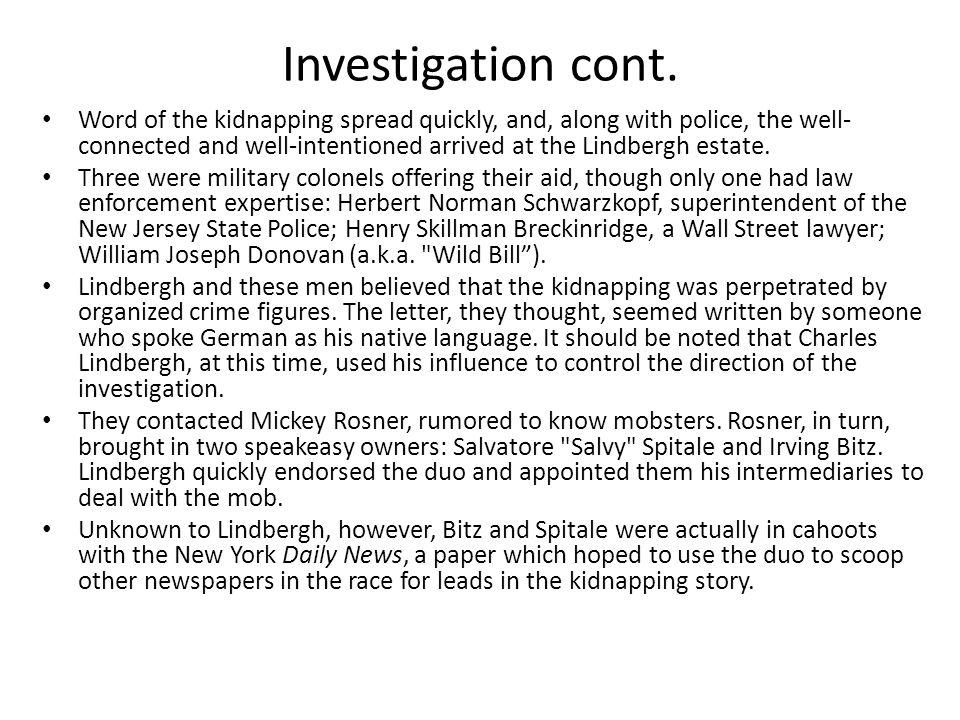 Investigation cont.