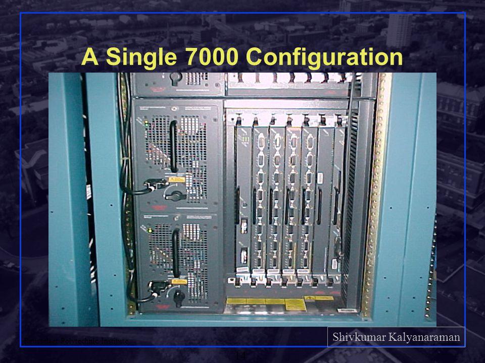 Shivkumar Kalyanaraman Rensselaer Polytechnic Institute 14 A Single 7000 Configuration