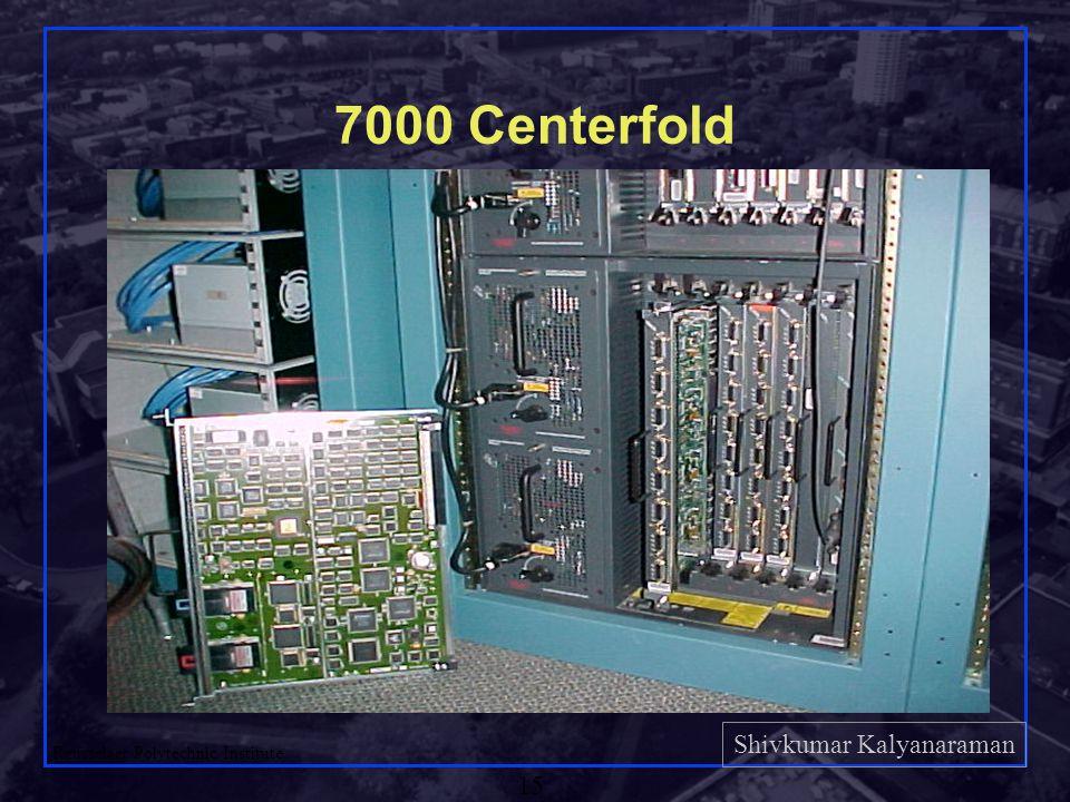Shivkumar Kalyanaraman Rensselaer Polytechnic Institute 15 7000 Centerfold Check: http://www.cisco.com/pcgi- bin/Support/PSP/psp_view.pl p=Hardware:7000&s= Hardware_Info#Product_S pecifications For more info.