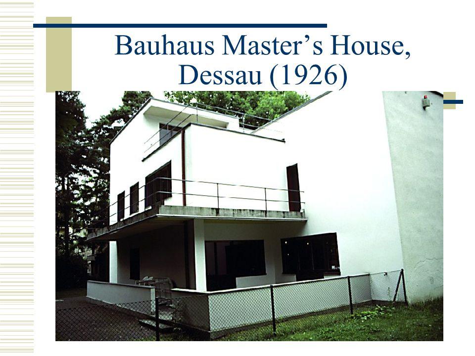 Bauhaus Master's House, Dessau (1926)