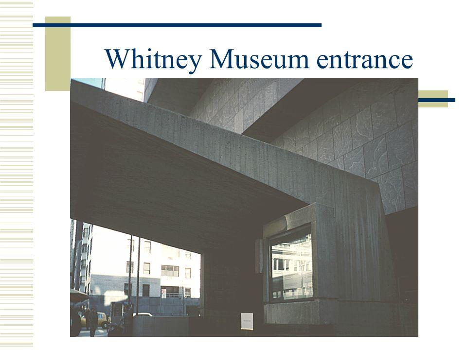 Whitney Museum entrance