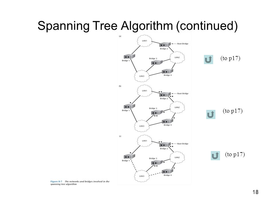 18 Spanning Tree Algorithm (continued) (to p17)