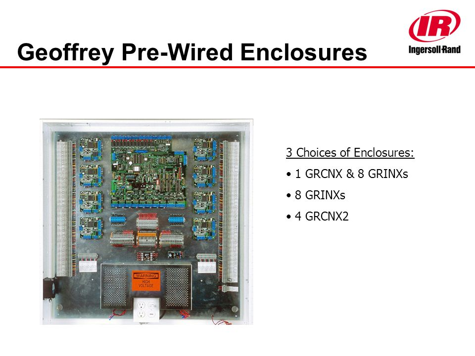 Geoffrey Pre-Wired Enclosures 3 Choices of Enclosures: 1 GRCNX & 8 GRINXs 8 GRINXs 4 GRCNX2