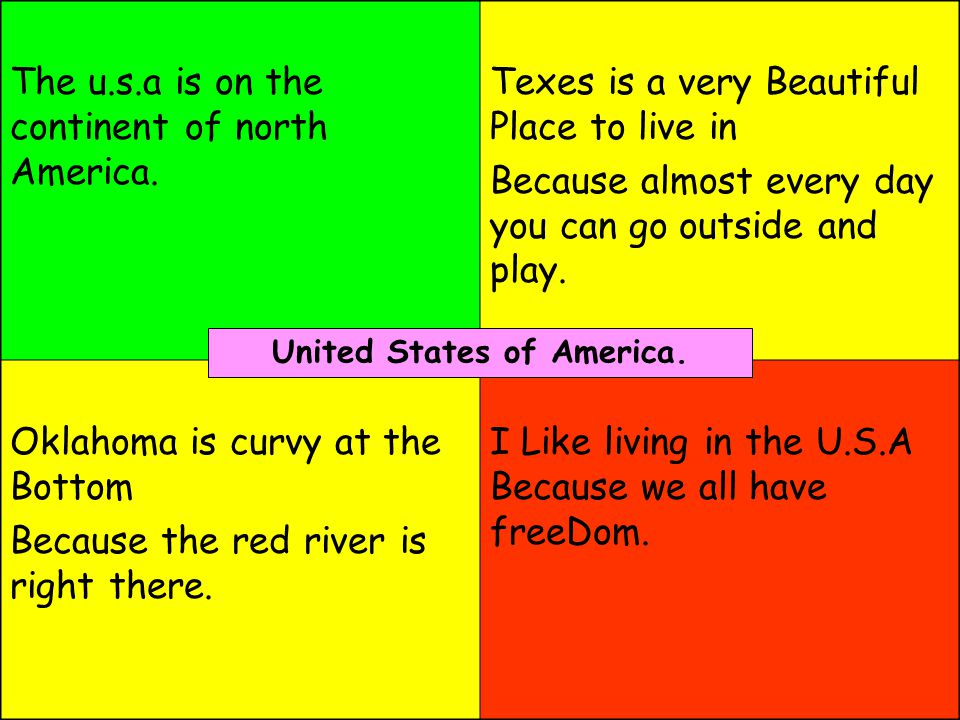 The u.s.a is on the continent of north America.