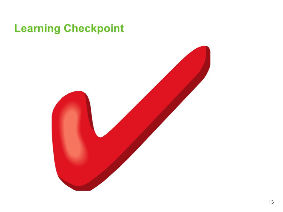 13 Learning Checkpoint