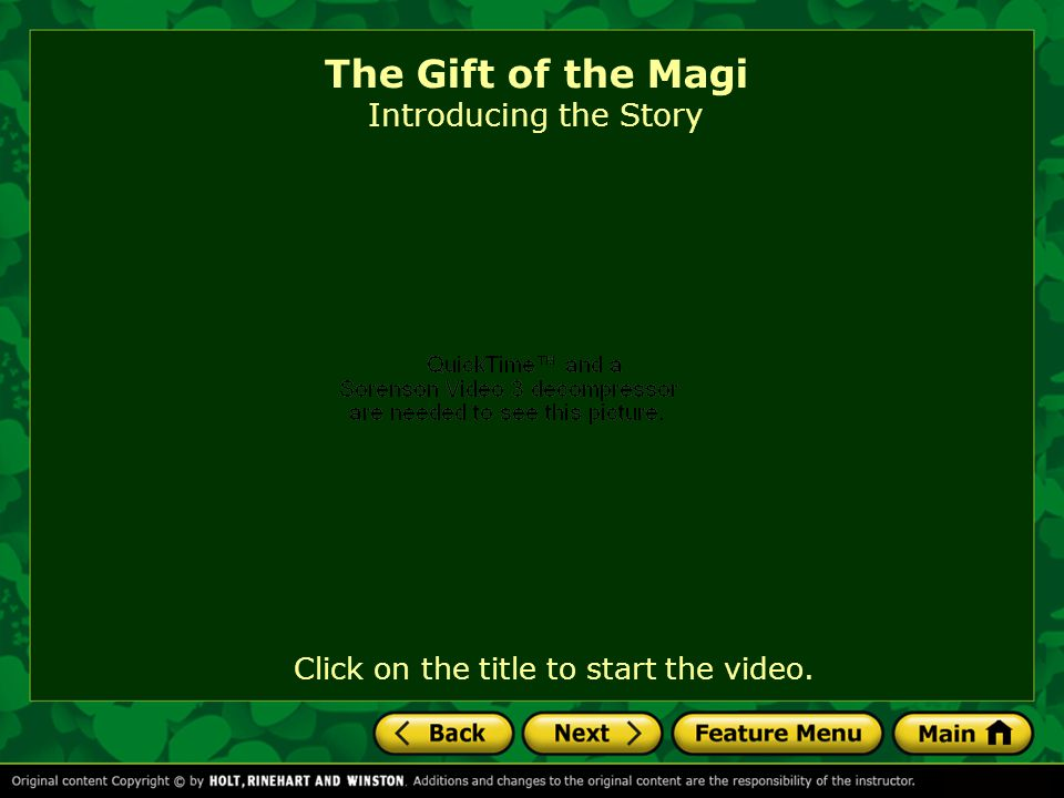 The Gift of the Magi by O.