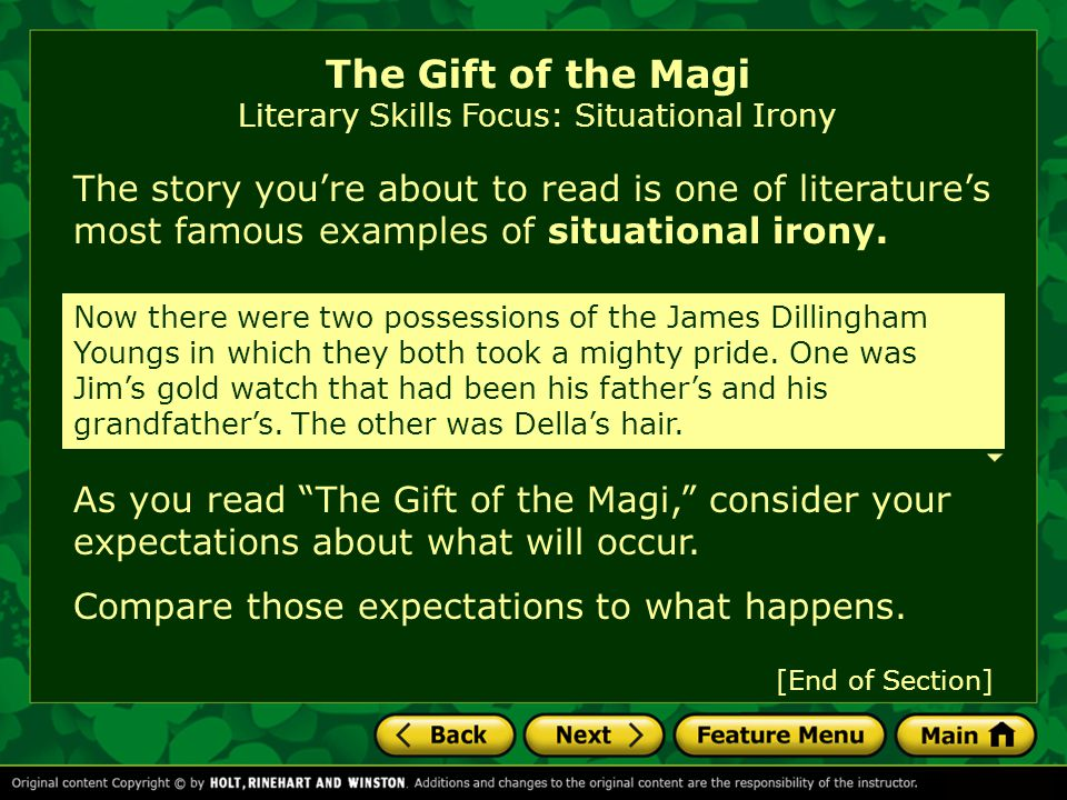 The Gift of the Magi by O. Henry Introducing the Story Literary ...