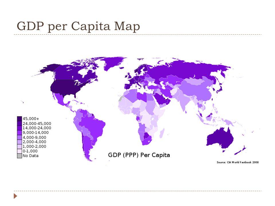 GDP per Capita Map