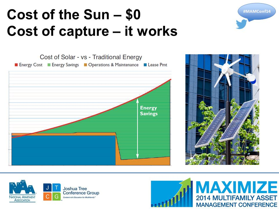 #MAMConf14 Cost of the Sun – $0 Cost of capture – it works