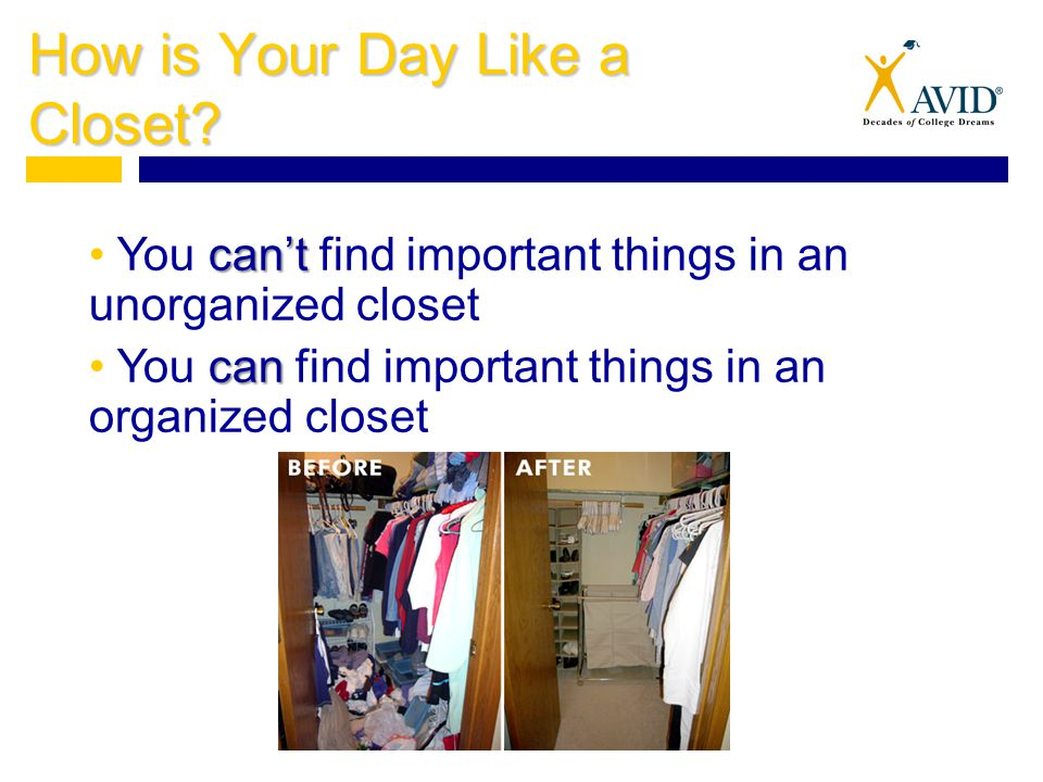 How is Your Day Like a Closet.