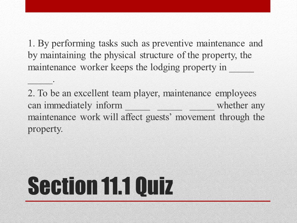 Section 11.1 Quiz 1.