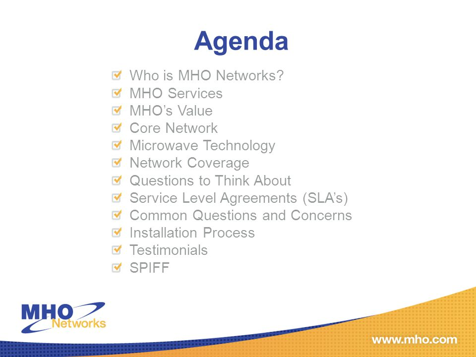 Questions to Think About Along with some standard terrestrial solutions, are you open to considering an Enterprise fixed wireless solution.