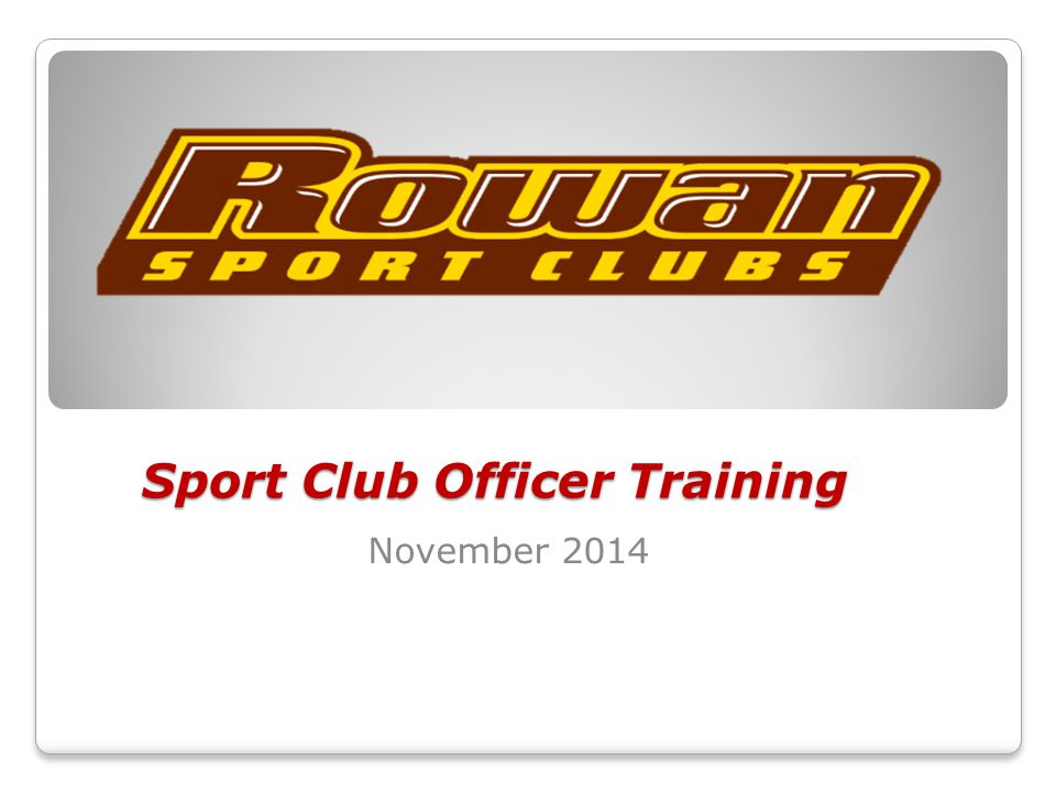 Sport Club Officer Training November 2014