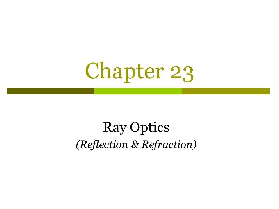 Chapter 23 Ray Optics (Reflection & Refraction)