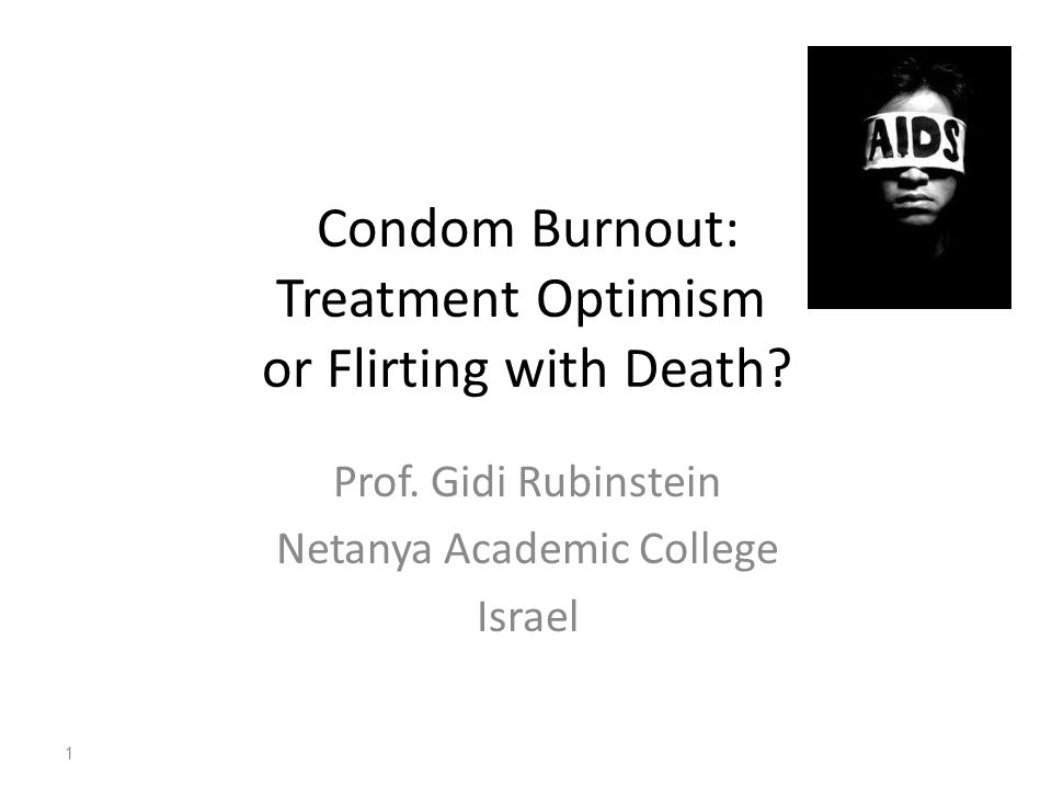 AIDS: From Terminality to Chronicity Calming Signals by AIDS Specialists in Israeli Media: One Can Live Healthy Life with AIDS Thanks to Highly Active Anti Retroviral Therapy (HAART) The Basis for HIV Treatment Optimism So Why Using A Condom in the HAART Era.