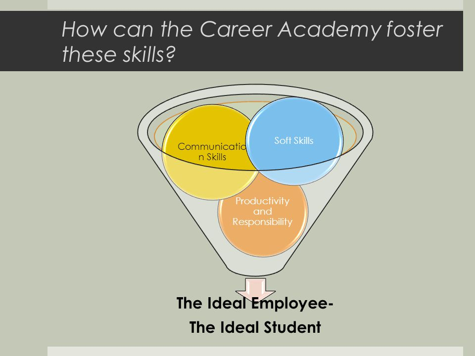 How can the Career Academy foster these skills.