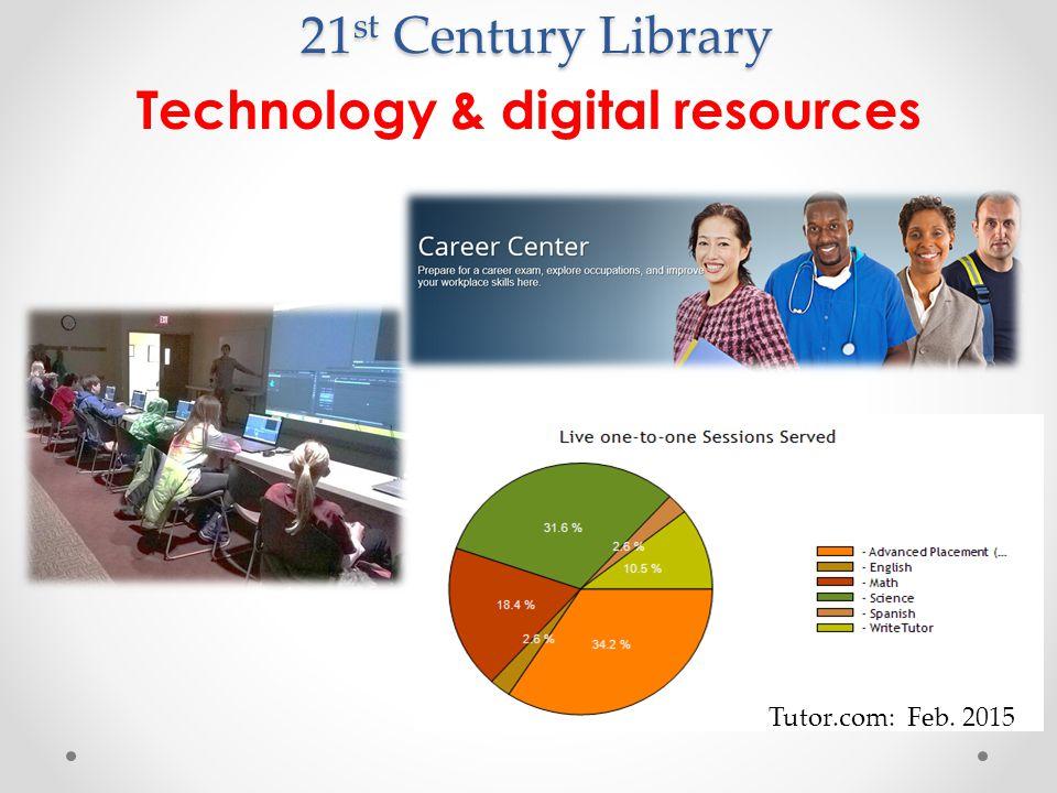 21 st Century Library Technology & digital resources Tutor.com: Feb. 2015