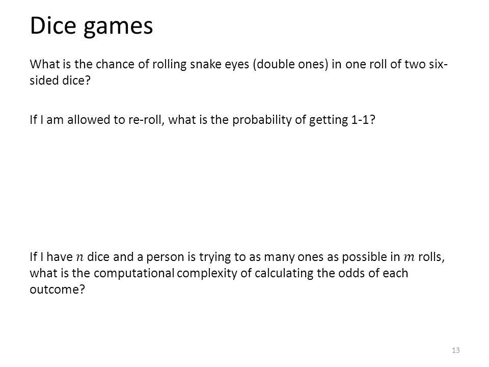 Dice games 13