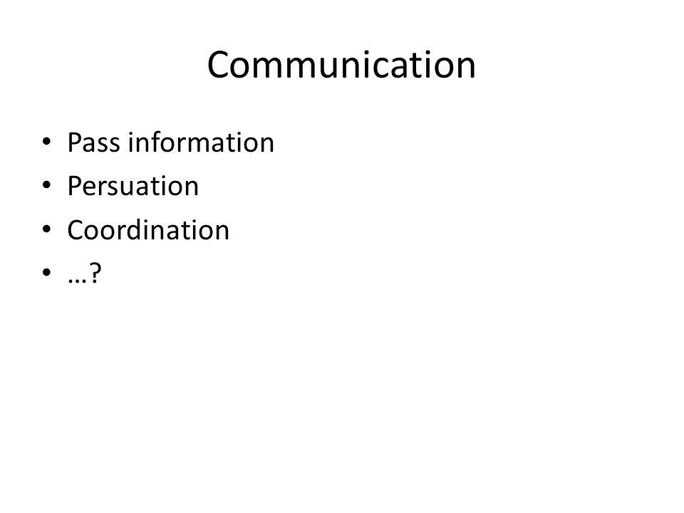 Communication Pass information Persuation Coordination …?