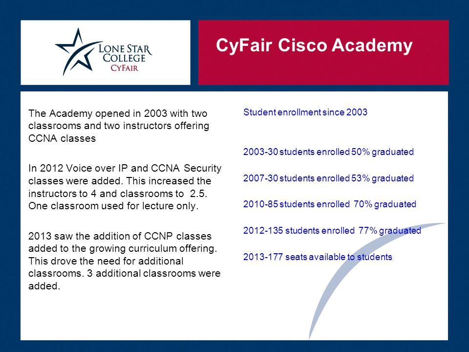 CyFair Cisco Academy Graduation  Then we call them up by class.