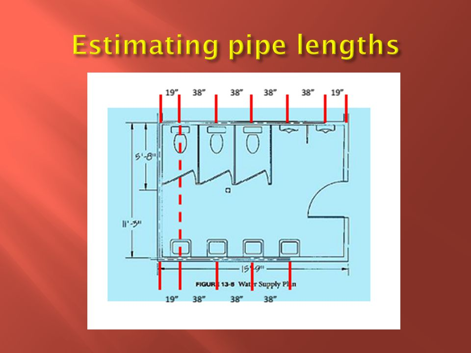  The DWV piping will be taken off in three steps: the main(horizontal) waste, the vertical waste servicing the fixtures, and the vent.