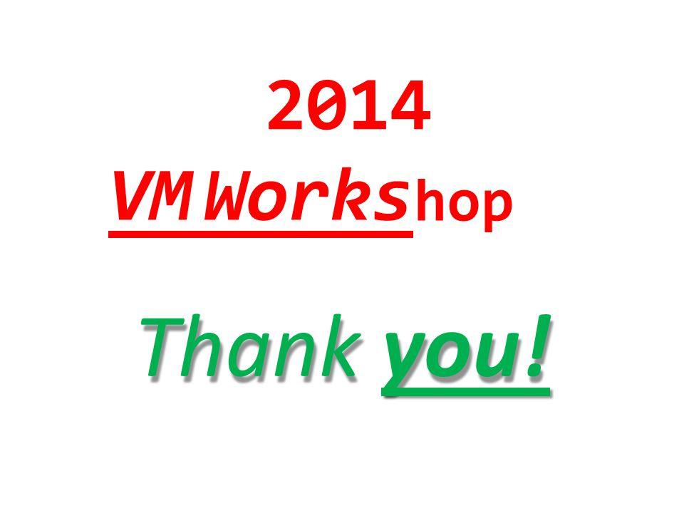 2014 VMWorks hop Thankyou!
