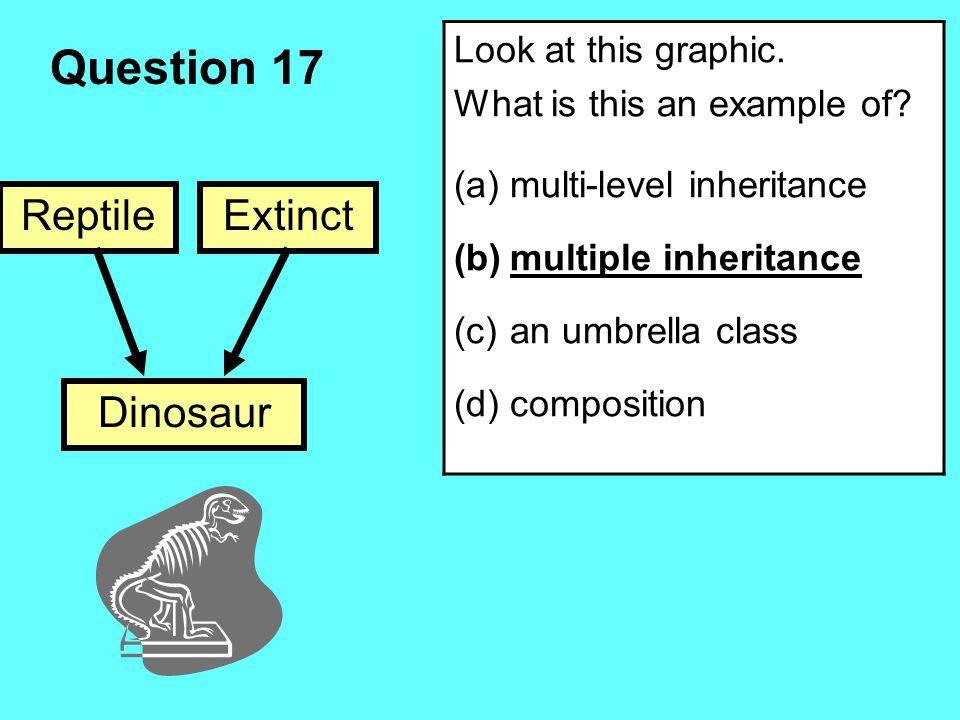 Question 17 Reptile Dinosaur Extinct Look at this graphic.