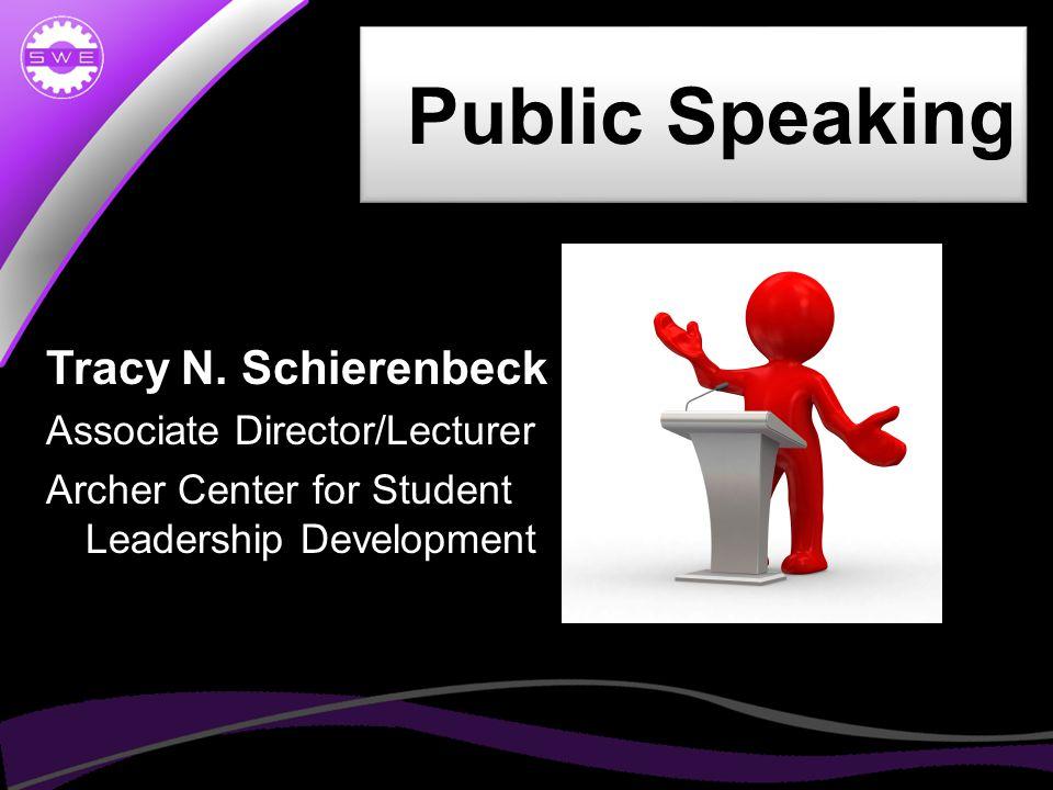 Public Speaking Tracy N.