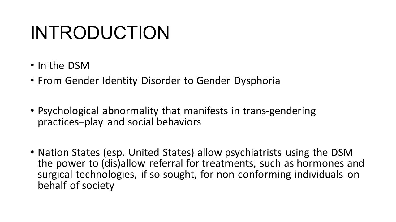 REHEARSING THE CLINIC NARRATIVE Psychiatry only recognizes certain hetero/gender normative subjects as having rational minds and orderly bodies.