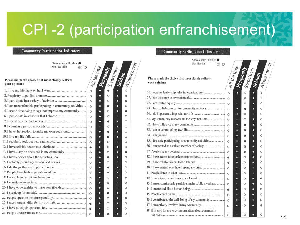 14 CPI -2 (participation enfranchisement)