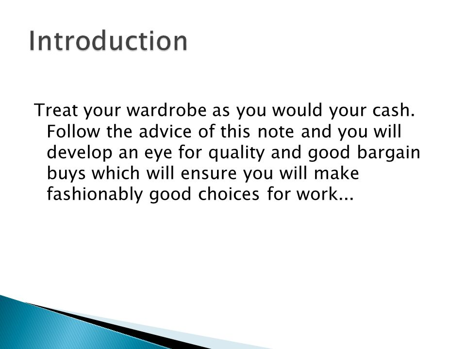 And Now... Your fashion investment portfolio starts here.