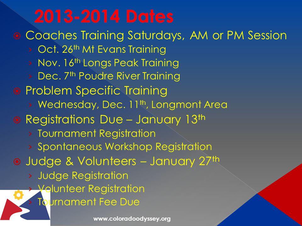  Coaches Training Saturdays, AM or PM Session › Oct.